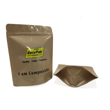 Roda Biodegradable Menetapkan Kraft Paper Coffee Beans Packaging Coffee Bag