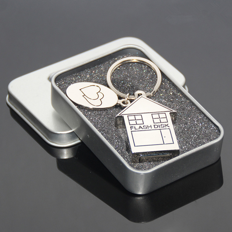 004Metal House Flash Memory Usb 32gb Flash Drive