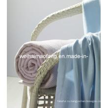 100% броска одеяло/тканая бамбука бамбук