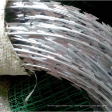 Hot Galvanized Razor Blade Wire Coil