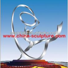 Sculpture en acier inoxydable grande sculpture en jardin en métal sculpture abstraite