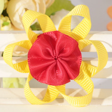 The factory sale fabric ribbon bow handmade ribbon bow grosgrain ribbon bow