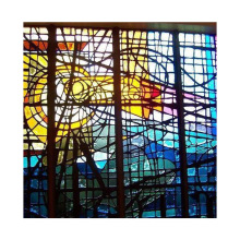 Traditional Design Church Stained Glass for Window and Door Decoration