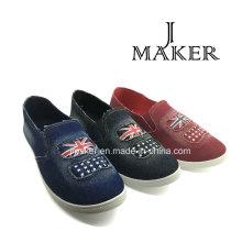 2016 lona moda lienzo Denim zapatos Jm2071