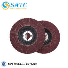 Aluminum oxide flap disc with fiberglass backing 10 PACK