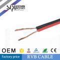 Câble de haut-parleur plat SIPU usine prix rouge et noir 2 conducteurs câble RVB