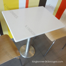 Customized Acrylic Solid Surface Table for Cafe (10 Years Warranty)