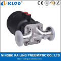 rubber lined diaphragm valve with pneumatic actuator KLGMF-20