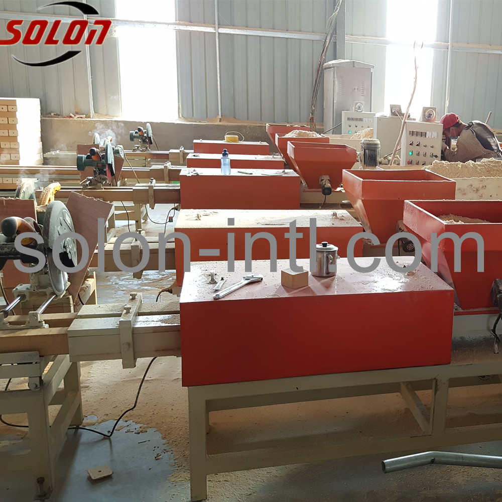sawdust timber pallet block making machine of cutter