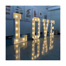 Custom free standing giant love letter 3D marquee letter sign for wedding Party Welcome Wedding Signage