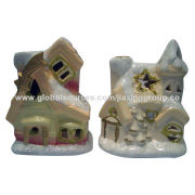 Ceramic Candle Holders with Silver Plating, Used for Specialized Home DecorationsNew