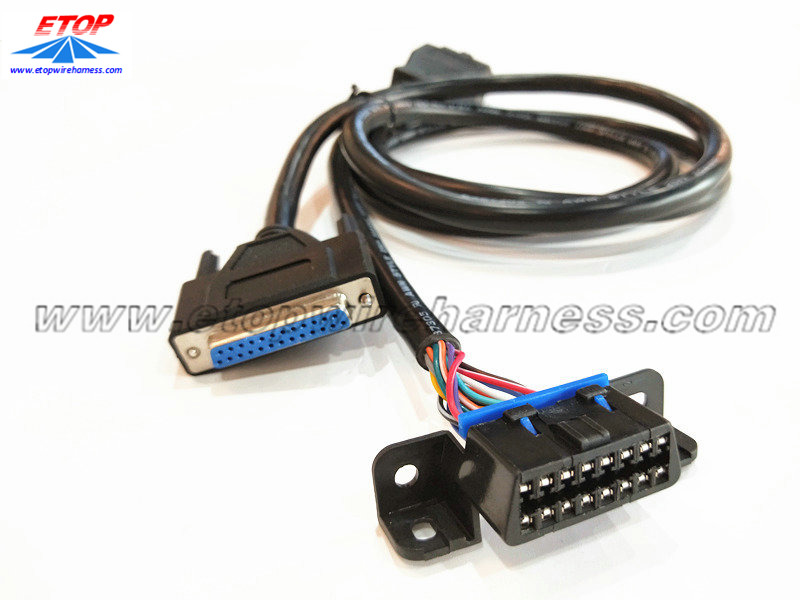 OBD2 M to OBD2 F and DB25