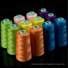 Venda al por mayor el 100% hilado de coser del poliéster 100yard / Tube