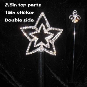 Cetro de corona de certamen de estrella de cristal