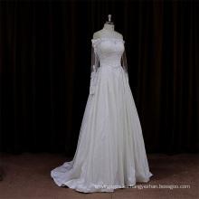 Patrones de vestido de novia largo tren clásico