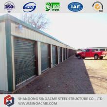 Hangar en acier préfabriqué de stockage d'entrepôt Mini