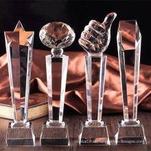Beliebte K9 Kristallglas Trophäe Handwerk für Souvenir