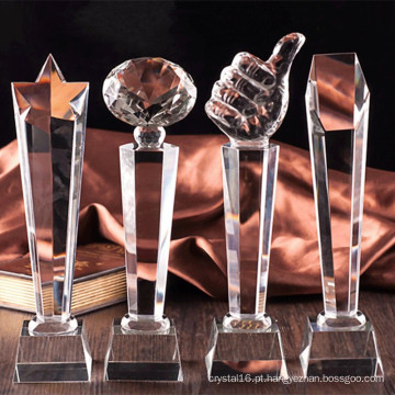 Embarcação de troféu de vidro de cristal K9 popular para lembrança
