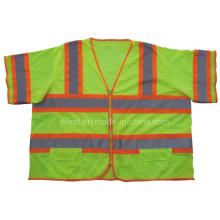 Orange Hi Visibility Reflective Vest with Short Sleeve (DFJ012)