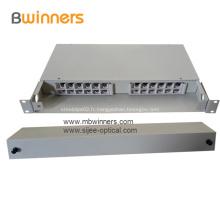 Boîte de jonction pour tiroir à fibres optiques en acier laminé à froid 1U
