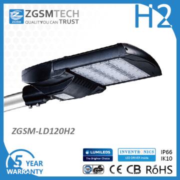 Fabricante de luminárias de rua de LED 120W ISO9001