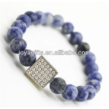 Wholesale Handmade gemstone friendship bracelet with diamante alloy