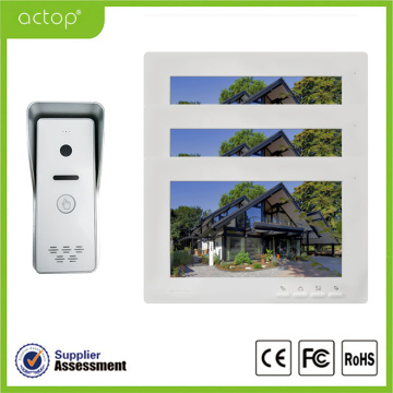 Telefone video da porta do intercomunicador da porta do cor de 7 polegadas