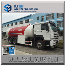 Sinotruk HOWO 371HP 24000L Bulk LPG Truck for Dispensing LPG