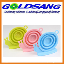 New Design Snail Shape Foldable Silicone Tea Strainer