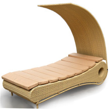 New style outdoor furniture rattan swimming pool chair lounger sun bed