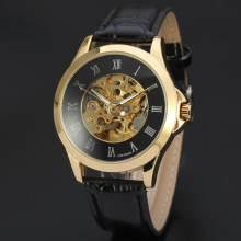 Alloy Case stainless steel back Leather Watch