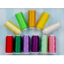 Linha de costura 100% de alta resistência do poliéster da venda quente (DF030)