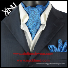 Blue Paisley Silk Kravat Turkey, Silk Cravat