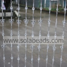 Factory provide nice price for acrylic crystal bead curtain Cool 16MM&30MM&6MM&28MM  Wire Crystal Plastic Bead Garland Trim export to Honduras Supplier