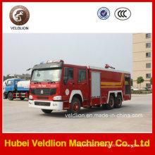 Camion de pompier de HOWO 6X4 LHD / Rhd 10m3 / 10cbm / 10000liters