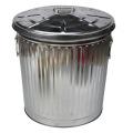 55L Silver Outdoor Trash Can for Garden