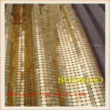 Maille de rideau en lien coloré / métal / chaîne