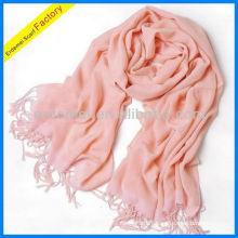 Ladies wholesale pink color scarf viscose