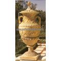 Stone Marble Garden Flower Pot for Garden Furniture (QFP185)