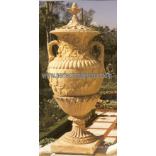 Stone Marble Garden Flower Pot for Garden Furniture (QFP185)