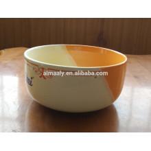 tigela de macarrão de porcelana vitrificada colorida