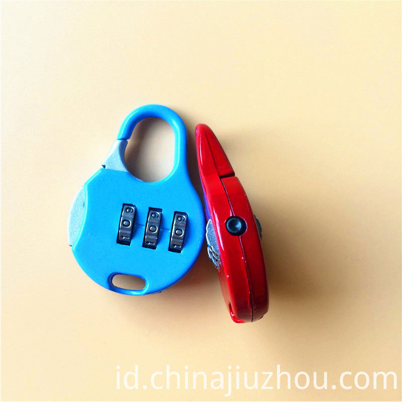 Zinc Alloy Colorful Combination School Bag Lock