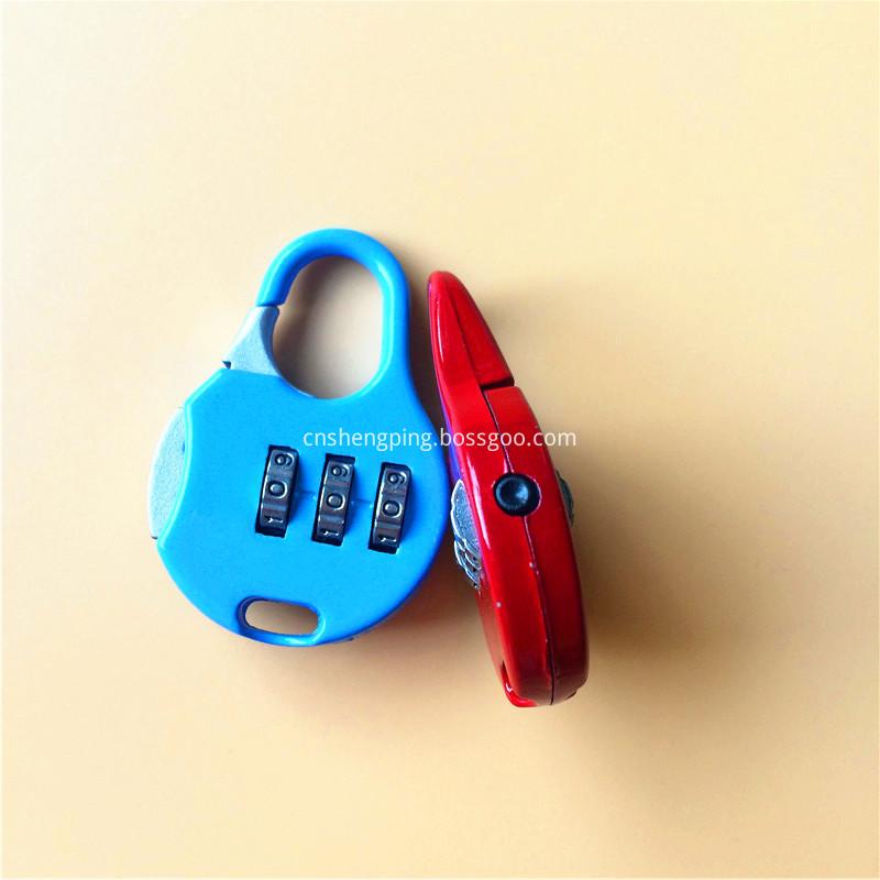 Zinc Alloy Colorful Combination School Bag Lock