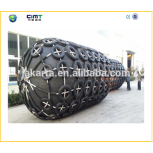 Tug boat marine rubber fender with Galvanized Chain made in china