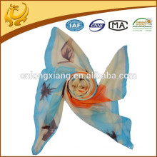 Factory In China Fashionable 100% Silk Material Wholesale Lady Korean Silk Scarf