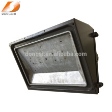 Die-casting aluminum semi cut-off LED wall pack housing with glass cover