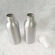 Botella de perfume de aluminio cosmética 100ml con el rociador