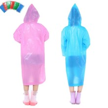 Outdoor Waterproof Adults Plastic Raincoat with Sleeves and Hood