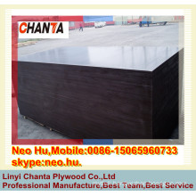 cheap pice with good quality one time hot press brown film faced plywood