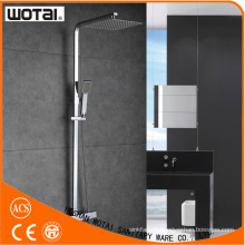 Wotai Squre Chrome Finished Thermostatic Shower Faucet